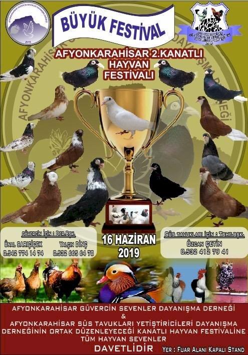 En Büyük Kanatlı Hayvan Sergisi Afyonkarahisar'da gerçekleşiyor.