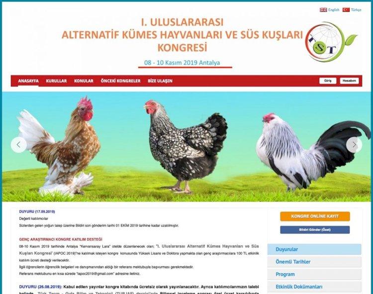 I. Uluslararası Alternatif Kümes Hayvanları ve Süs Kuşları Kongresi